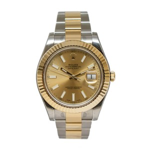 Rolex Datejust II 116333CSO Champagne Dial 18K Yellow Gold and Stainless Steel Men's Watch