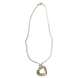 David Yurman Sterling Silver Heart Necklace