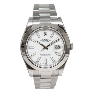 Rolex Datejust II 116300WIO  Steel White Dial 41mm Watch