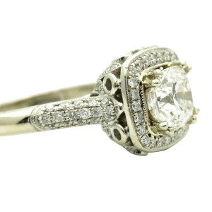 18K White Gold & 2.03ct Diamond Engagement Ring Size 7.25