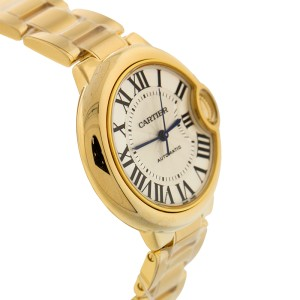 Cartier Ballon Bleu de Cartier 18k Yellow Gold Silvered Opaline Dial Ladies Watch