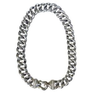 David Yurman Sterling Silver & Diamonds Chain Necklace