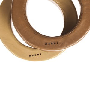 Marni Leather Figural Bangle Bracelet Set