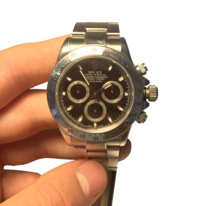 Rolex Daytona 40mm Stainless Steel 2006 Black Dial Watch