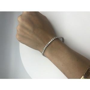 7.65 Carats Diamond Tennis Bracelet In 18 Karat White Gold