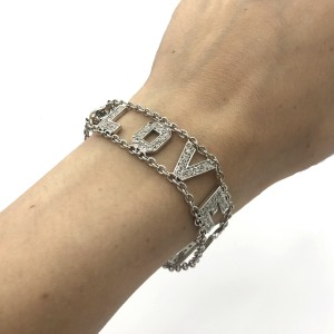 L.o.v.e Bracelet In 18k White Gold 2.25ctw Paved With 2.25 Carats Of Diamonds