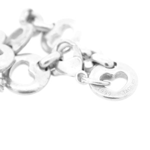 Tiffany & Co. Sterling Silver Stencil Heart link Bracelet