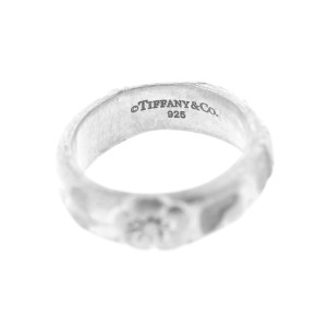 Tiffany & Co. Sterling Silver Carved Flower Ring