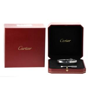 Cartier Love Bracelet White Gold Half Diamond Size 17