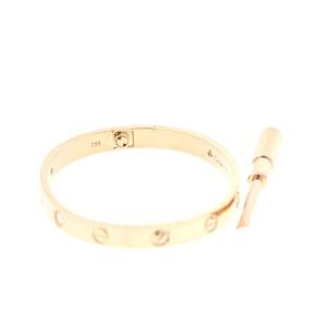 Cartier Love Bracelet 18K Rose Gold Half Diamond Size 16
