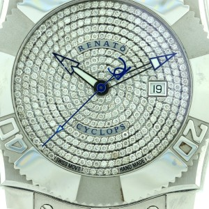 Renato Mens Cyclops Diamond Stainless Steel Watch