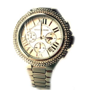 Michael Kors MK5634 43mm Camille Silver Crystal Chronograph Watch
