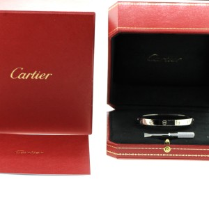Cartier Love White Gold Bracelet Size 16