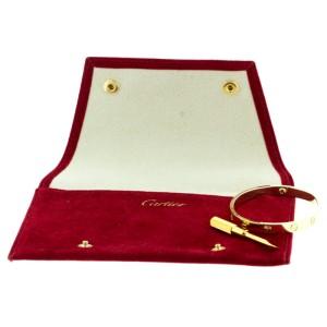 Cartier Yellow Gold Love Bracelet Size 17