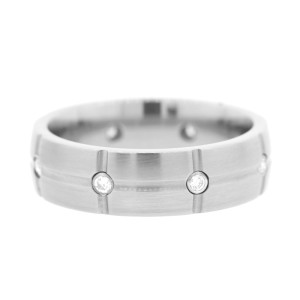 Hearts On Fire Titanium Grid Dome Band