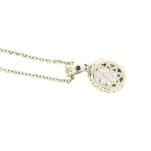 Sterling Silver Tanzanite  Diamond Necklace