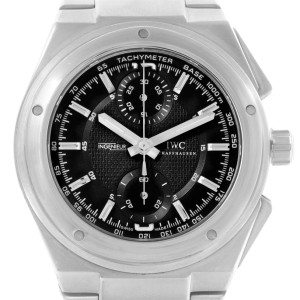 uk availability 86fe2 90853 IWC Ingenieur IW372501 Automatic Chronograph Black Dial 42.5mm Mens Watch
