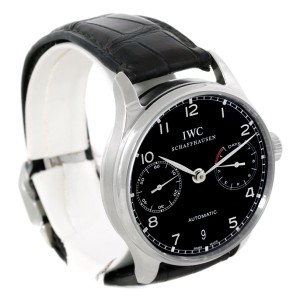 IWC Portuguese IW500109 Chrono Stainless Steel Automatic 42.3mm Mens Watch