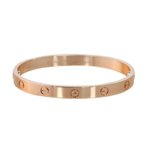 Cartier Love B6035617 Bracelet Rose Gold Size 17
