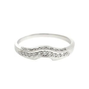 Tacori 18kwg Diamond Engagement Ring and Diamond Band Ring Set
