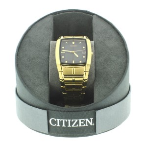 Citizen Eco-Drive Mens Gold Plated Steel Watch
