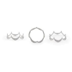 Jado Crown Luminosity Solo 18k White Gold with Diamonds Ring