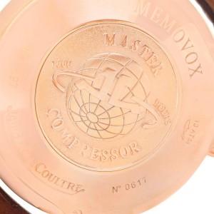 Jaeger Lecoultre Master Compressor Memovox 146.2.97 18K Rose Gold 41mm Mens Watch