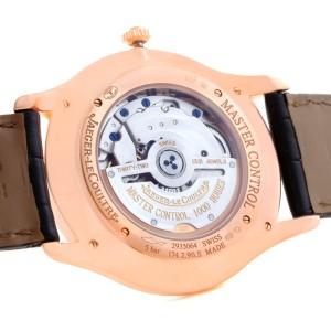 Jaeger Lecoultre Master Q1352502 18K Rose Gold & Diamond 40mm Mens Watch