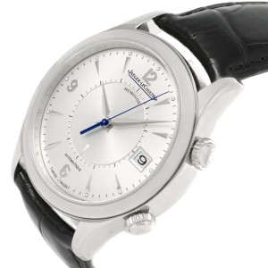 Jaeger Lecoultre Master Memovox 174.8.96 Q1418430 Stainless Steel & Silver Dial 40mm Mens Watch