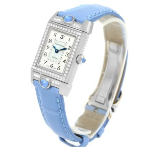 ffd829b60898 Jaeger LeCoultre Reverso Joaillerie Q2623402 18K White Gold   Leather  Diamond Manual 20mm Womens Watch