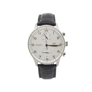 IWC Portuguese Silver Dial Chronograph Mechanical Men's Watch