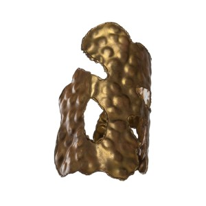 Huge Brutalist Brass Handmade Cuff Bracelet
