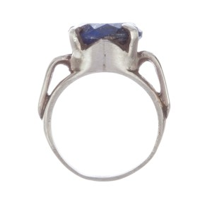 Art Deco Lapis Lazuli Cocktail Ring