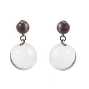 Art Deco Pools of Light Dangle Ball Earrings