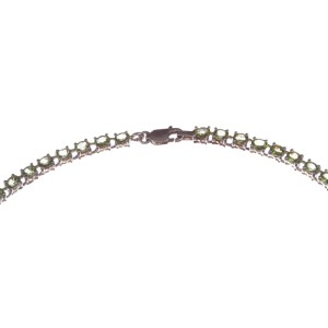 Peridot Oval Cut Eternity Necklace