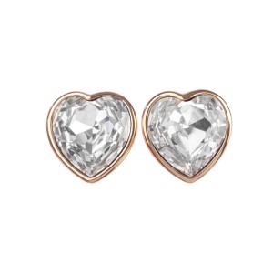 Runway Christian Dior Headlight Cubic Zirconia Heart Earrings