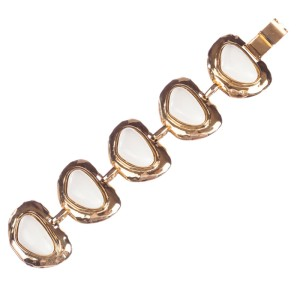 Massive Valentino Faux Nugget Coral Bracelet
