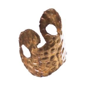 Brutalist Brass Handmade Cuff Bracelet