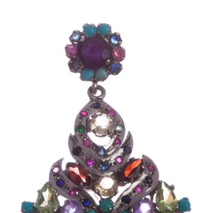 Multi Gemstone Sterling Silver Chandelier Earrings