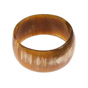 Massive Cow Horn Bangle Bracelet