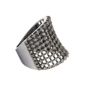 Sterling Silver Diamond Cocktail Ring