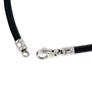 Bulgari 1 Rope Leather Necklace