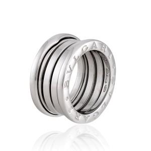 Bulgari 18k White Gold 4 Band B.Zero 1 Ring Size 5