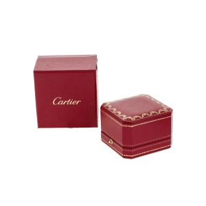 Cartier Tank Ring 18k White Gold with Diamonds Size 9.5