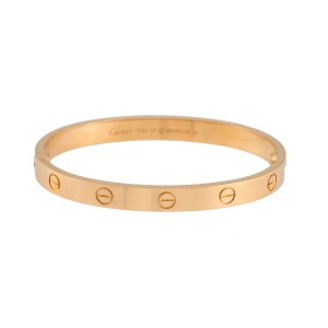 4fa53ccf94ca Cartier Love Bracelet 18K Yellow Gold Size 17