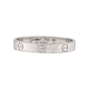 Cartier Love Ring 18K White Gold Size 10.75