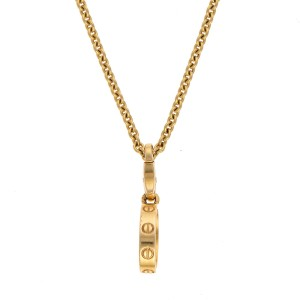 Cartier Love Pendant Necklace 18K Yellow Gold