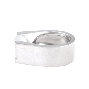 Cartier 18K White Gold Moonstone Ring Size 6.75