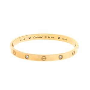Cartier Love 18k Rose Gold 4 Diamond
