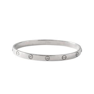 Cartier 18k White Gold Love Bracelet Size 20
